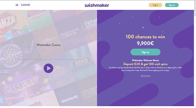 IMG - Wishmaker - Welcome bonus