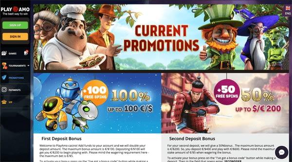 Playamo - promotions