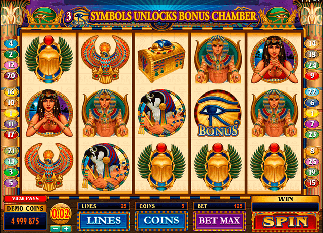 Throne of Egypt at 10bet online casino